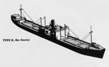 Diagram of 1K class ore carrier
