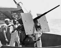 Photograph of 20mm Oerlikon AA gun