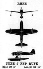 "3-view diagraom of A6M2-N ""Rufe"" seaplane fighter"