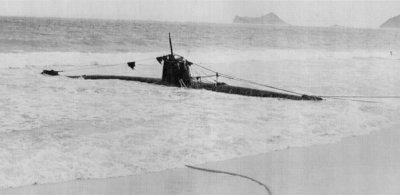 Photograph of Type A midget submarine