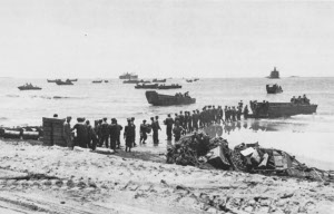Photograph of landings at Aitape