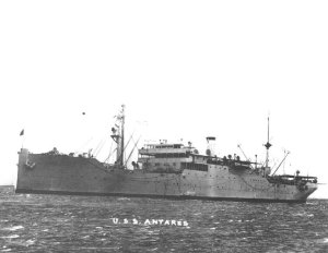 Photograph of general stores issue ship Antares