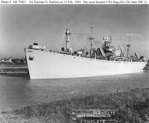 Photograph of Armadillo-class mobile station tanker USS Stag