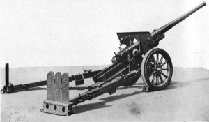 Photograph         of Japanese Type 92 105mm gun