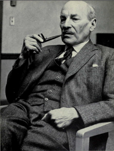 Photograph of Clement Attlee in 1957