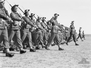 Photograph of 2nd Australian Imperial Force troops on parade