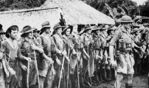 Photograph of Australian militia after the Kokoda campaign