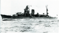 Bow view of Agano-class light cruiser