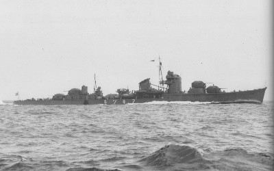 Photograph of Akizuki, Japanese destroyer