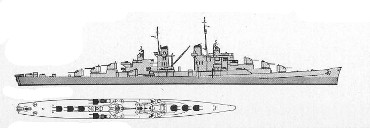 Schematic of USS Atlanta