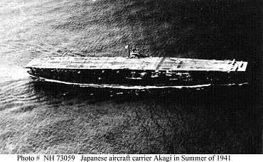 Photograph of Akagi, Japanese aircraft carrier