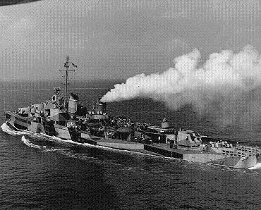 Photograph of USS Waldron, an Allen M. Sumner-class destroyer