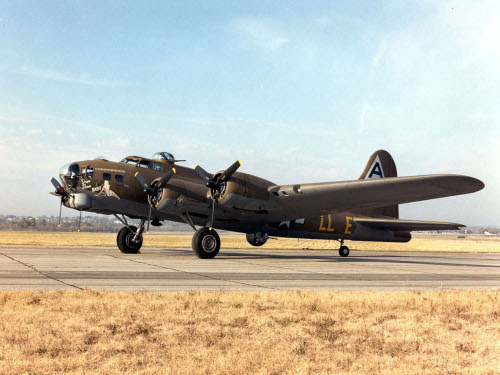 Photograph of restored B-17 Flying Fortress