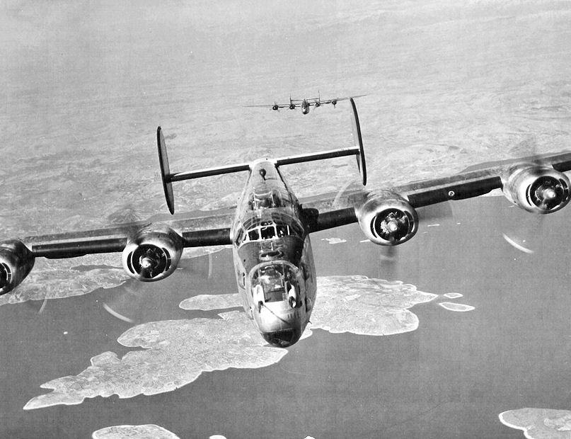 B-24 Liberator front view  B24 Liberator