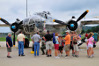 Front view of restored B-25