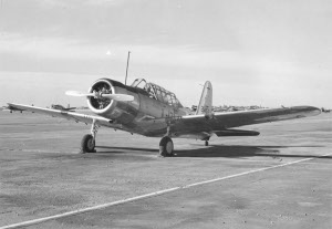 Photograph of training aircraft at Minter Field