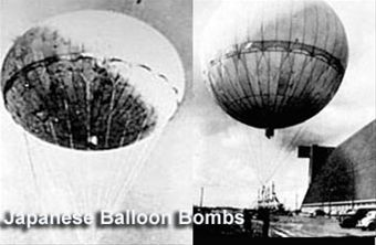 Photographs of balloon bombs