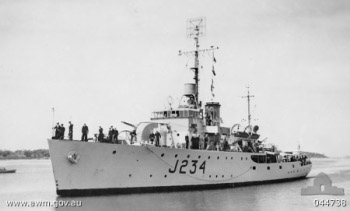 Photograph of Bathurst-class minesweeper corvette