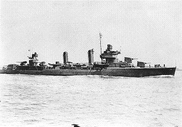 Photograph of Benson-class                   destroyer