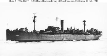 Photograph of Black Hawk, U.S. destroyer tender