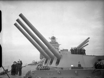 "Photograph of 16""/45 gun turrets"
