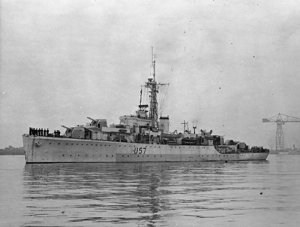 Photograph of HMS Black Swan