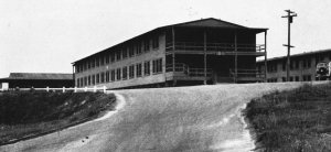 Photograph of temporary barracks at Camp Pendleton