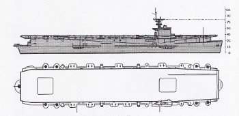 Schematic diagram of Casablanca class escort carrier