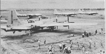 Photograph of Chengtu airfield preparing for a mission
