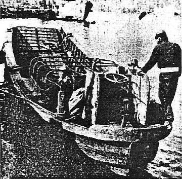 Photograph of Chuhatsu-type landing craft
