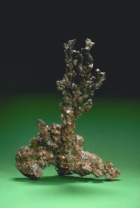 Photograph of native copper