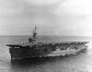 Port side view of Casablanca-class escort carrier
