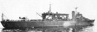 Rear view of Chitose class seaplane carrier