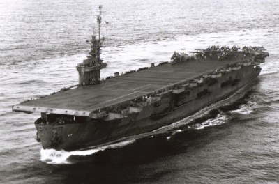 Photograph of U.S.S. Anzio, a Casablanca-class escort carrier