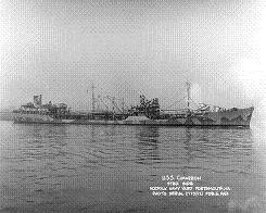 Photograph of                   Cimarron-class fleet oiler