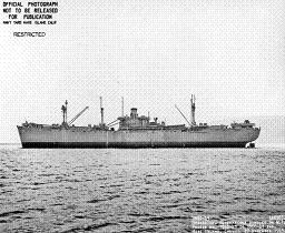 Official wartime photograph of Crater class cargo ship