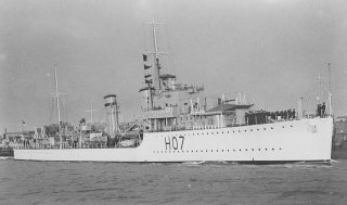 Photograph of HMS Defender