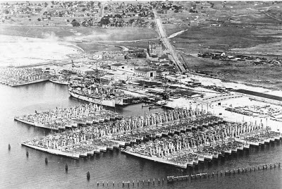 Photograph of Destroyer Base San Diego in the late 1920s