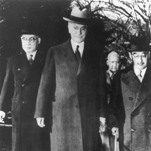 Photograph of Stimson with Kurusu and Nomura