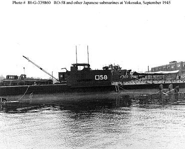 Photograph of Ro-58, an L3-class submarine