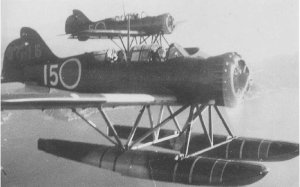 "Photograph of E14Y ""Glen"" reconnaissance seaplane"
