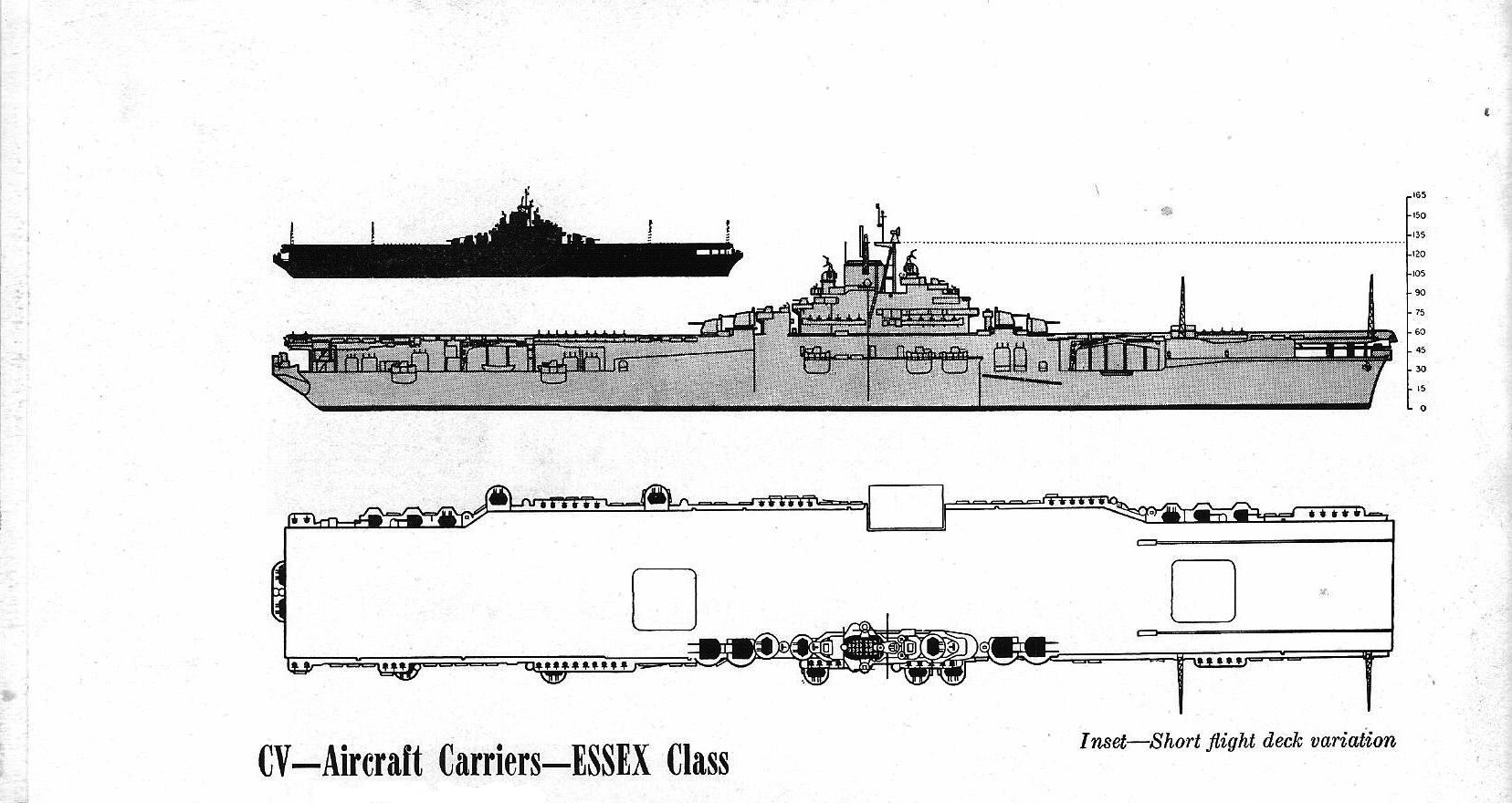 The Pacific War Online Encyclopedia Essex Class Us Fleet Carriers Electrical Schematic Classes Diagram Of Carrier