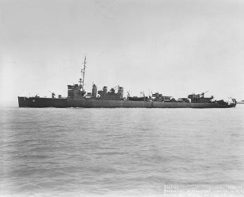 Photograph of a fast minesweeper