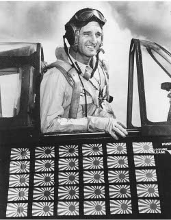 Photograph of American Navy ace David McCampBell