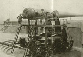 Photograph of gun at Fort Hayden