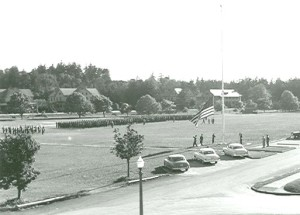 Photograph of parade ground at Fort Worden