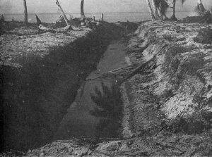 Photograph of Japanese antitank ditch