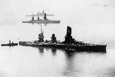 Yamashiro, Fuso, and Haruna at anchor