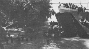 Photograph of landings on Nissan, Green Island