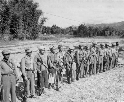 Photograph of Kachin guerrillas